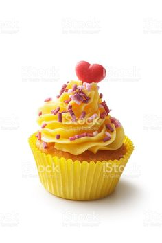 Pastry: Cupcake Isolated on White Background royalty-free stock photo