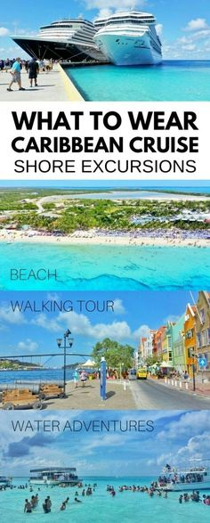 Cruise tips: What to wear on a Caribbean cruise shore excursions, cruise port. Cruise outfits: Things for ultimate cruise packing list, what to pack for Caribbean. What is best bag for shore excursions, beach bag or best backpack for cruise walking tour. Bahamas Cruise, Cruise Port, Cruise Travel, Cruise Vacation, Vacation Trips, Vacation Travel, Beach Travel, Family Cruise, Italy Vacation