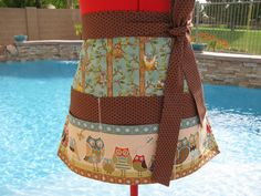 Owl Wonderful Sassy Apron,Vendor Apron with 6 pockets, Utility, Gardening , Womens Aprons, Back to School, Teachers Gifts, Farmer's Market