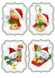 Christmas Labels, Christmas Clipart, Christmas Printables, Christmas Pictures, Vintage Christmas, Christmas Holidays, Christmas Crafts, Christmas Decorations, Christmas Ornaments