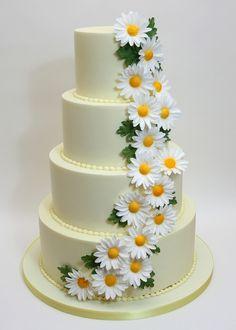 Daisy Wedding Cakes, Fondant Wedding Cakes, Amazing Wedding Cakes, Amazing Cakes, Gorgeous Cakes, Pretty Cakes, Candy Birthday Cakes, Dance Cakes, Luxury Cake