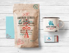"""Check out this @Behance project: """"Branding for the coffee shop Coffee Station""""…"""