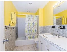 1000 images about bathroom ideas on pinterest grey for Yellow and white bathroom ideas