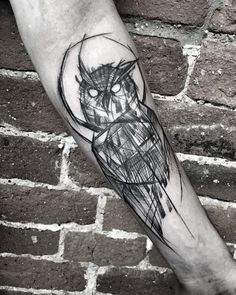 nice Animal Tattoo Designs - Sketchy owl...