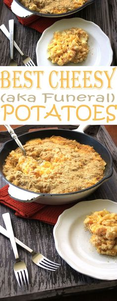 Cheesy Potatoes, aka Funeral Potatoes, is the perfect potato side dish to serve for Thanksgiving dinner or other holiday meals.