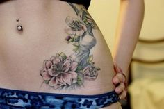 I want my tattoo to have subtle grey lines instead of black and soft delicate touches of colour
