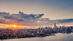 Midtown Sunset as Seen from the Top of the Northside Piers, Williamsburg, NYC
