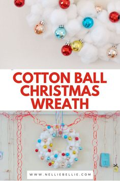 Need a Cute new wreath for the Christmas. Make this easy, low cost, and bright wreath you are sure to love. #Christmas #Wreath #DIY #Homemade #Craft #Easy Christmas Wreaths, Christmas Decorations, Cute Diys, Diy Ideas, Core, Bright, Diy Crafts, Homemade, Crafty