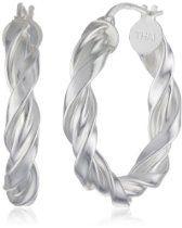 Sterling Silver Twist Hoop Earrings (1.0 Hoop Earrings, Sterling Silver, Audio Books, Accessories, Jewelry, Amazing, Fashion, Moda, Jewels