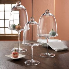 Cloches-Just bought myself a glass cloche the other day. :) Can't wait to fill it with shiny Christmas ornaments this year!