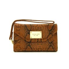 #MichaelKors #CheapMichaelKors Michael Kors Patent Python-Embossed Leather Large Brown iPhone 4 Cases