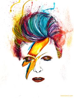 More Samples Drake Waterfowl Tattoo David Bowie Tribute, David Bowie Art, David Bowie Poster, David Bowie Tattoo, Ziggy Stardust, Glam Rock, Mayor Tom, David Bowie Fashion, Cool Posters