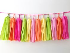 Excited to share the latest addition to my #etsy shop: Two-tti Fruity Birthday Banner Tassel Garland Orange Pink Lime Tissue Paper Tassel Garland Fruit Summer Party Second Birthday Balloon Tassel