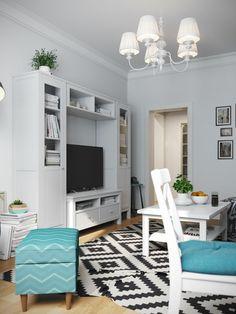 Esszimmer skandinavisch  Jugend-Style Skandinavisch Küche Fliesen Esszimmer Möbel in weiß ...