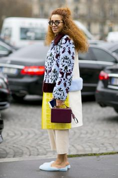Street style outside the Paris haute couture spring 2016 shows. Photo: Imaxtree.