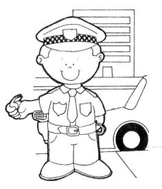 Police Officer Coloring Page Fresh Police Ficer Coloring Pages Free Printable Police Planet Coloring Pages, Bear Coloring Pages, Coloring Pages For Kids, Coloring Books, Art Drawings For Kids, Drawing For Kids, Cop Party, Community Helpers Worksheets, Body Preschool