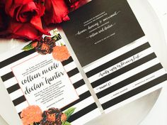 Modern Romantic Bonnie Invitation, RSVP Card and Reception Card Set