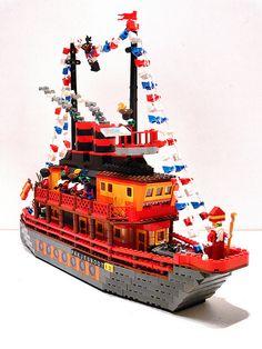 Lego Sinterklaas stoomboot