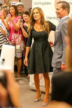 12e3d1c2861 Sarah Jessica Parker dons glittery pumps to launch shoe collection