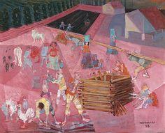 """Festa de São João"""" - Cândido Portinari Pintor brasileiro (1903-1962) DE ARTE EM ARTE : PINTURAS DE FESTAS JUNINAS E A PINTURA NAIF BRASILEIRA"""