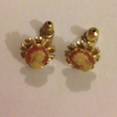 Cameo earring Gold plated Cameo Jewelry Earrings