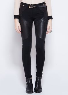 Givenchy Noir Leather Panel Pant @wasteland