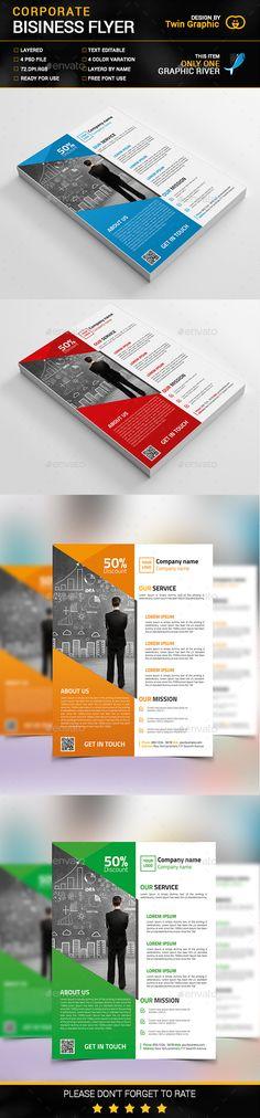 Flatex | Modern Corporate Flyer Templates | Modern, Flyer-Vorlage ...