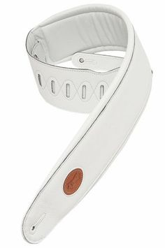 """Levy's Leathers MSS2-4-WHT 4 Garment Leather Signature Series Guitar Strap,White by Levy's Leathers. $92.54. 4½"""" garment leather bass strap with foam padding and garment leather backing. Adjustable from 36"""" to 52"""". Also available in extra long (XL), which adds 12"""" to overall length."""