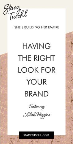 On today�s show, Lilah talks to Stacy about designs and logos and she shares some tips to create a brand with the look that�s right for you. Lilah Higgins is a branding designer and coach with a fine art background, currently living right at the foot of t