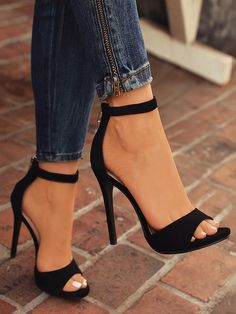 aba5dc1cd269e0 Shop Sexy Open Toe Strap Anklet Heeled Sandals right now