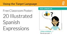 Free printable poster for Spanish teachers! | Wayside Publishing