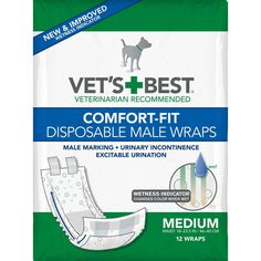 Which you like best? Vet's Best Comfor...  Check it out here : http://www.allforourpets.com/products/vets-best-comfort-fit-disposable-male-dog-wrap-12-pack-medium-white-5-75-x-4-87-x-8-5