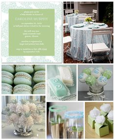 Mint & aqua is the perfect combo for a boy, girl or gender reveal baby shower.