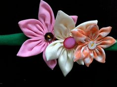 Upcycled Flowers: Headband, sash, collar, scarf, bracelet, and more - multi accessory on Etsy, $12.00
