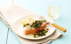 Giada's Baked Salmon with Arugula Salsa Verde