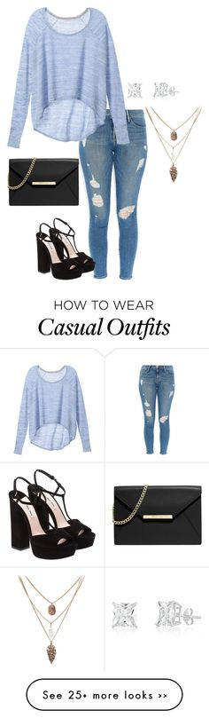 """""""Casual~Ambra"""" by oopsy-daisy-tips-icon-and-more on Polyvore featuring Frame Denim, Victoria's Secret, Miu Miu and MICHAEL Michael Kors"""