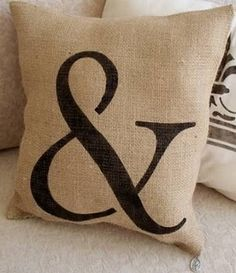 Burlap.....front porch pillows with house numbers on my bench