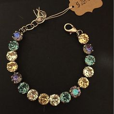 Blue Tanzanite Peach Bracelet by PrettyInCrystal on Etsy