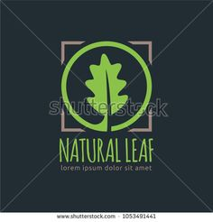 Natural Leaf, Leaf logo template in vector format, easy to customize.