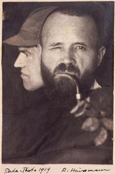 Raoul Hausmann, Dada photo (with Hausmann and Johannes Baader), 1919,
