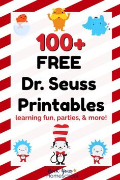 Seuss Printables & Activities for Fantastic Fun Over FREE Dr. Seuss printables & activities to enjoy with your kids! Includes free printables for parties, preschool, elementary, & older kids plus. Dr. Seuss, Dr Seuss Week, Dr Seuss Printables, Preschool Lessons, Dr Seuss Activities Preschool, Monthly Themes For Preschool, Free Printables Preschool, Kindergarten Curriculum, Preschool Bulletin