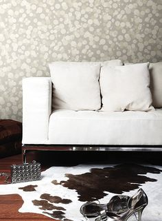 Out Of Focus Wallpaper in Grey and Tan design by York Wallcoverings