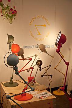 Handmade Jiedle lamps.