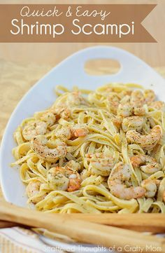 Easy Shrimp Scampi Recipe using @Erin B B B B McCormick Spice Garlic Butter Shrimp Scampi recipe mixes. #Shrimp #recipe