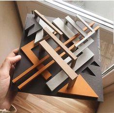 Architekturmodell, kubisch weiße Holzarchitekturpavillon Modell, polygonale For. Croquis Architecture, Tectonic Architecture, Folding Architecture, Maquette Architecture, Landscape Architecture Model, Concept Models Architecture, Art Et Architecture, Architecture Model Making, Concrete Architecture