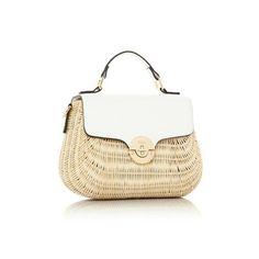2224baebae DOANNEE - Medium Basket Woven Handbag - white