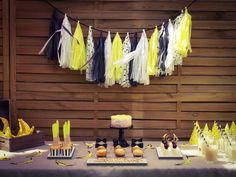 Meow it's time to party ! Banana Party, Decoration, Tassel, Chandelier, Ceiling Lights, Design, Home Decor, Garland, Birthday