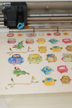 Silhouette Cameo printing and cutting my Birds, Owls and Circles