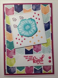 Stampin Up Oh So Eclectic card