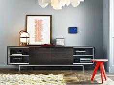 Lackiertes Sideboard aus Eichenholz mit Flügeltüren AXIA by Poliform Design Paolo Piva